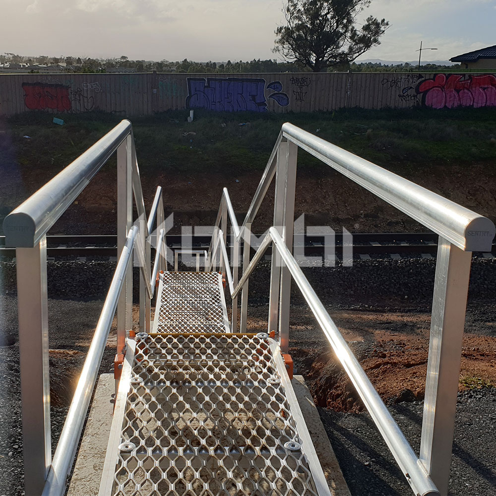 Kombi modular aluminium access stairs and platforms installed on Ballarat LIne