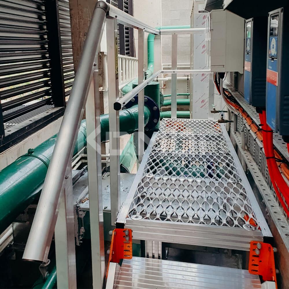 KOMBI Stairs and Platforms installed around HVAC systems