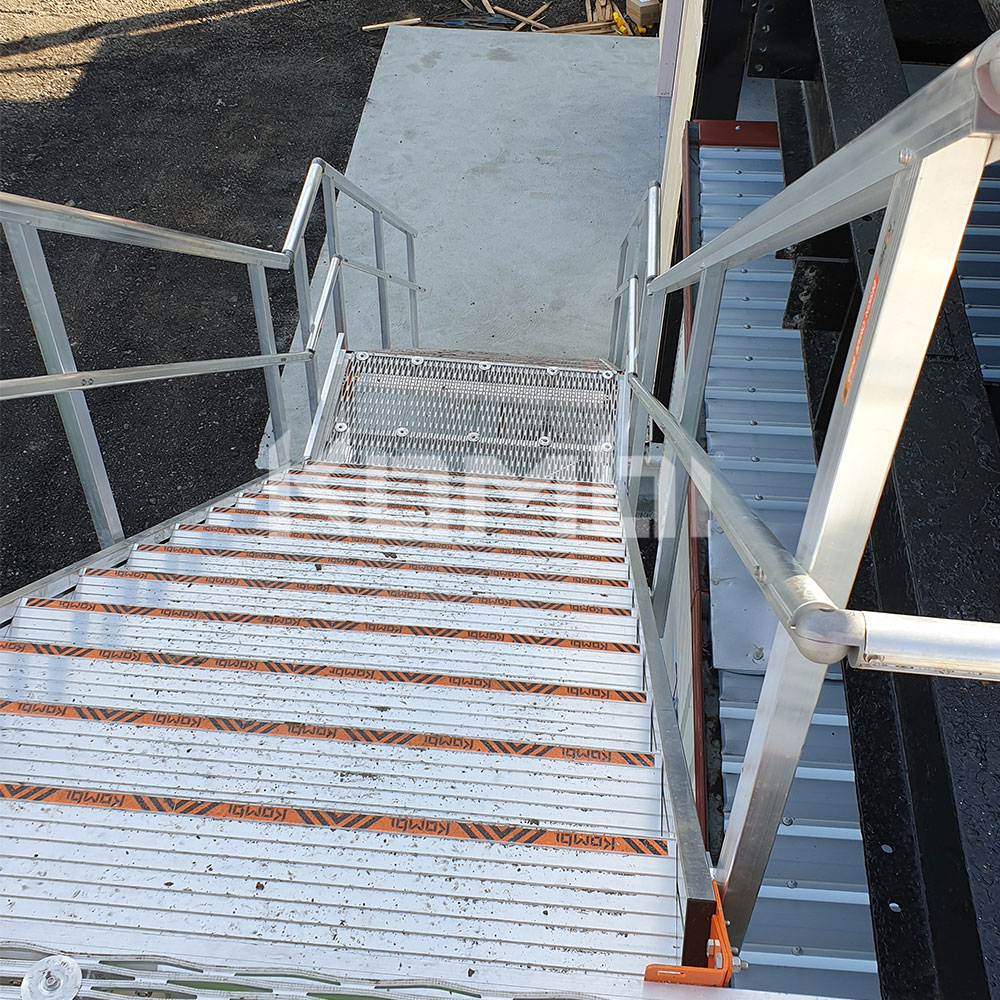 Kombi modular aluminium access stair and access platform systems install at level crossing