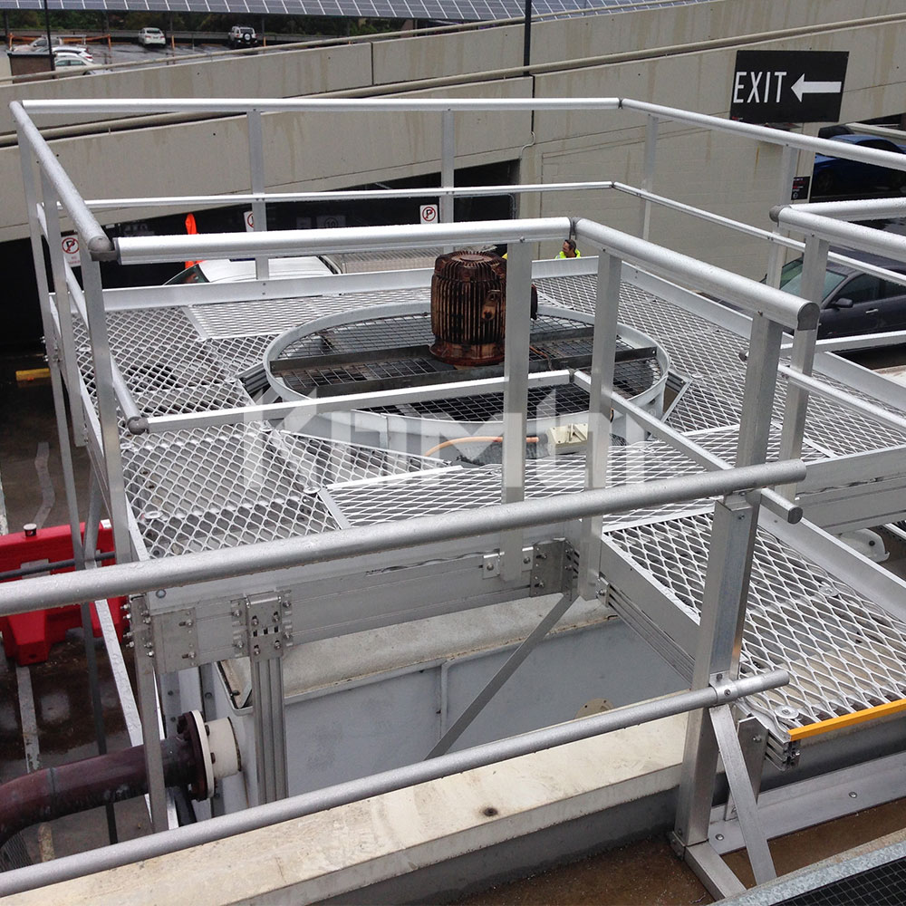 Kombi Aluminium Access Stairs, Access Walkways, Platforms around HVAC cooling tower