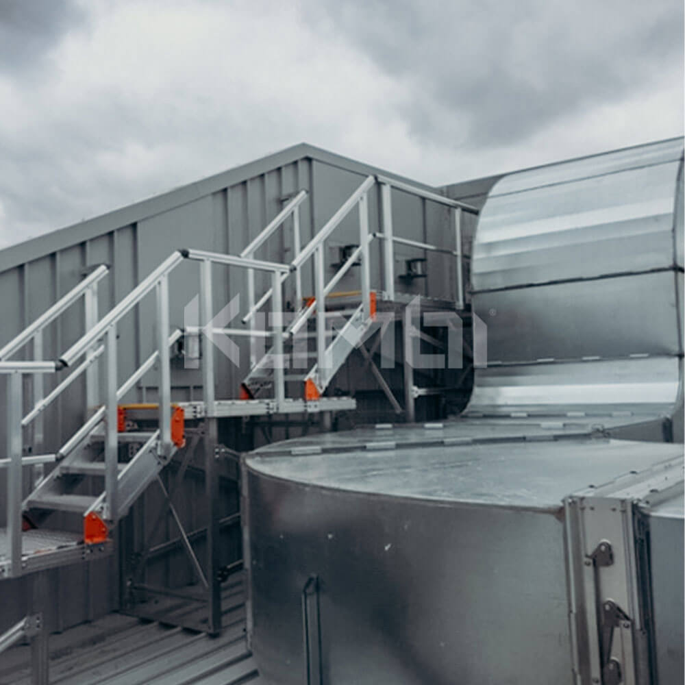 Kombi Stairs and Platforms provide access to HVAC at Northern Hospital