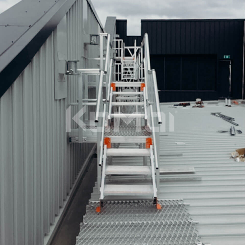 Kombi Stairs and Platforms provide access to HVAC installed at Northern Hospital