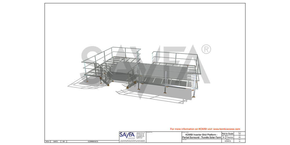 KOMBI Stairs and Platforms installed at Solar Farm - drawing