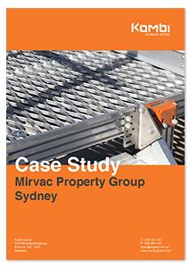 HVAC access with KOMBI aluminium stairs and aluminium platforms