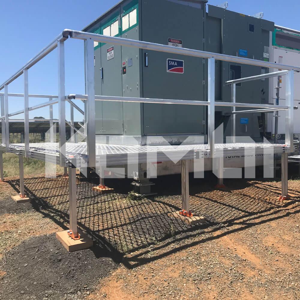 KOMBI Platforms around Solar Farm machinery