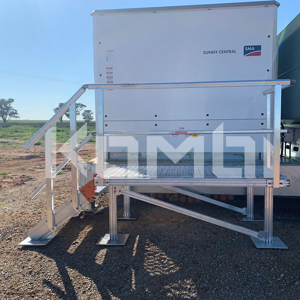 KOMBI Modular Stairs and Platforms for access to machinery at solar farm