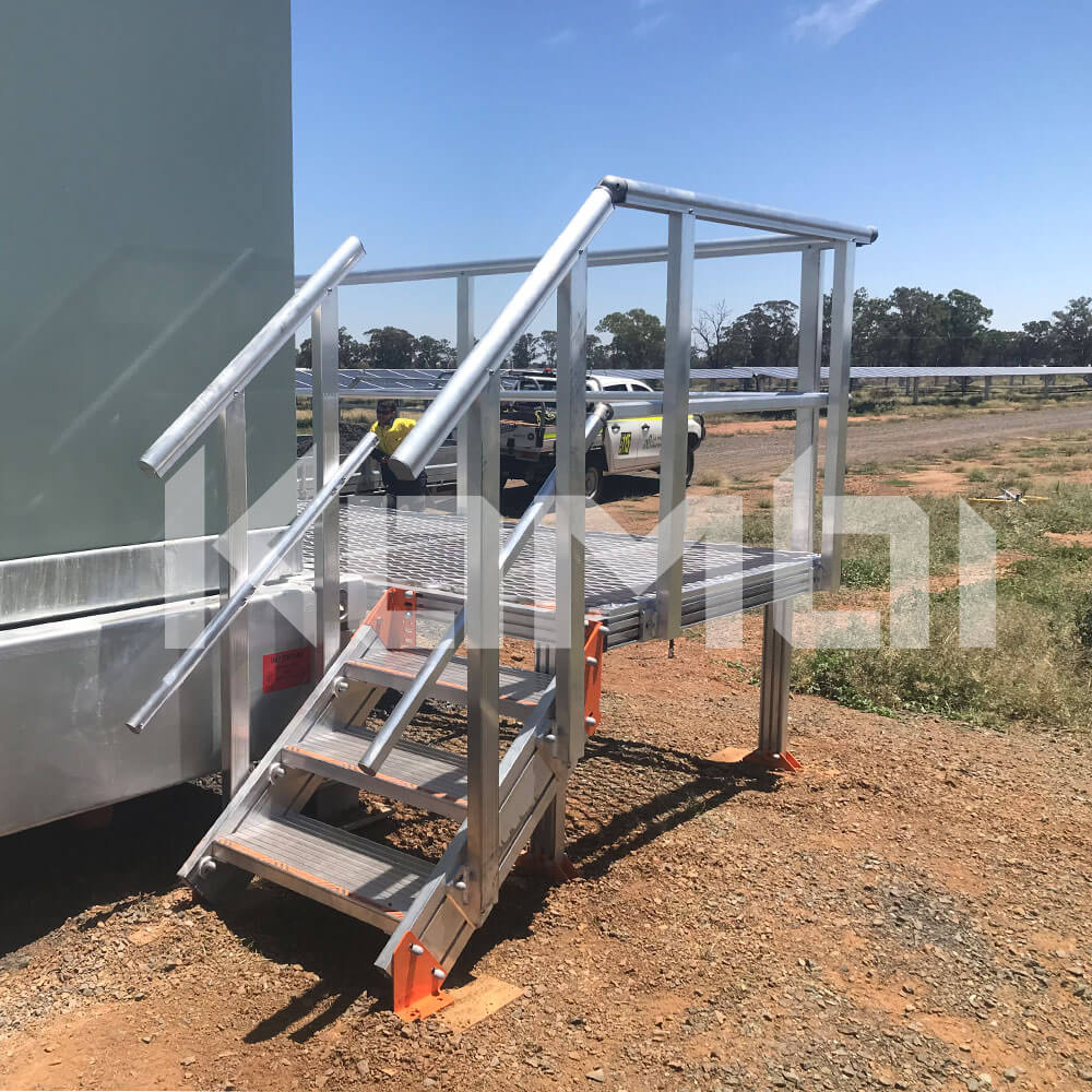 Trundle Farm Solar Farm access provided by KOMBI aluminium stairs and platforms
