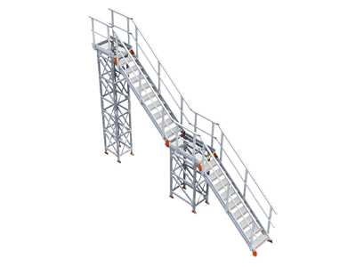 KOMBI stairs and platform for access