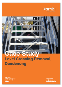KOMBI Stairs and Platforms Install for site shed access - case study image