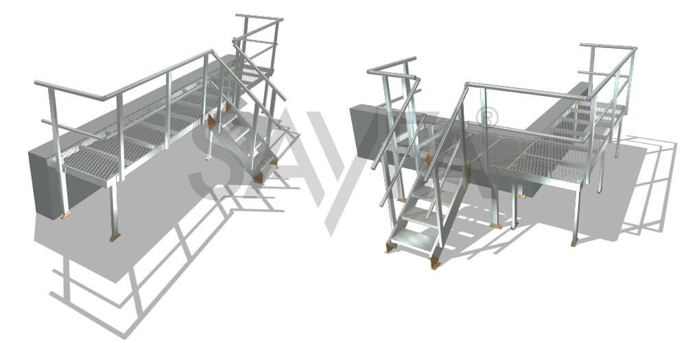 Kombi Stair and Platform concept drawing