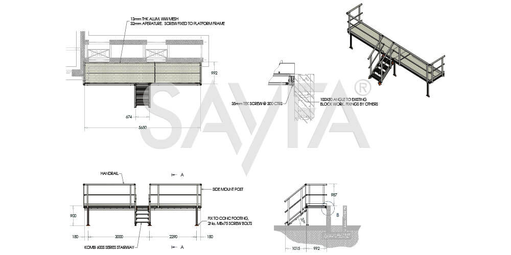 Kombi Stair and Platform drawing for solar farm